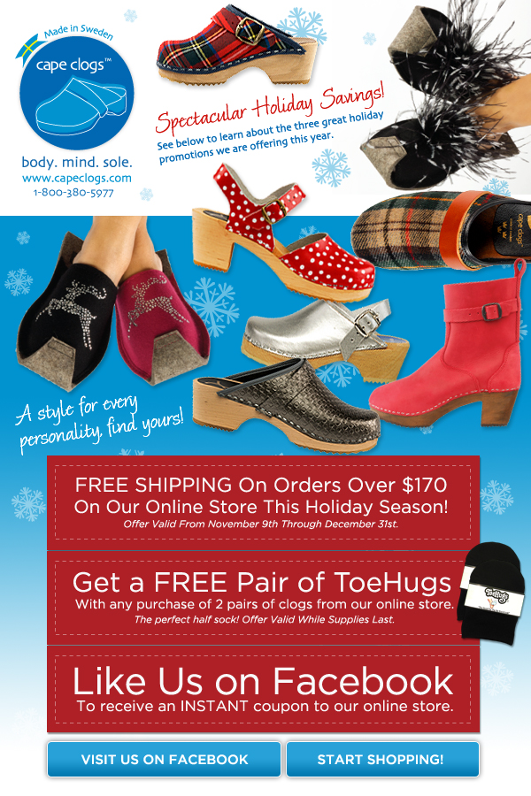 is cape clogs on your wishlist for santa